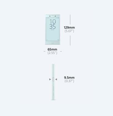 Die Abmessungen des Sony Xperia X Compact