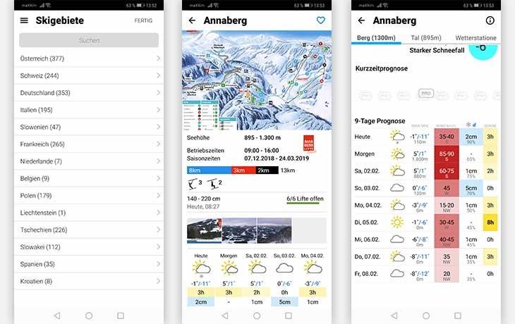 bergfex/Ski App Screenshot