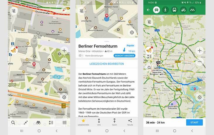 Navi App MAPS.ME