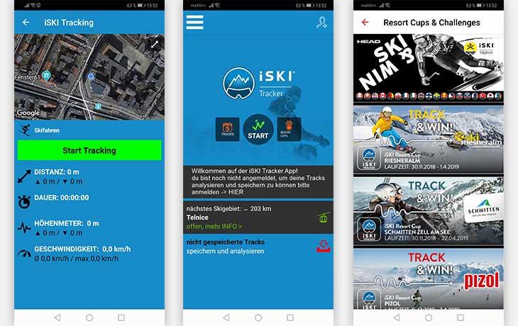 iSKI Tracker App Screenshot