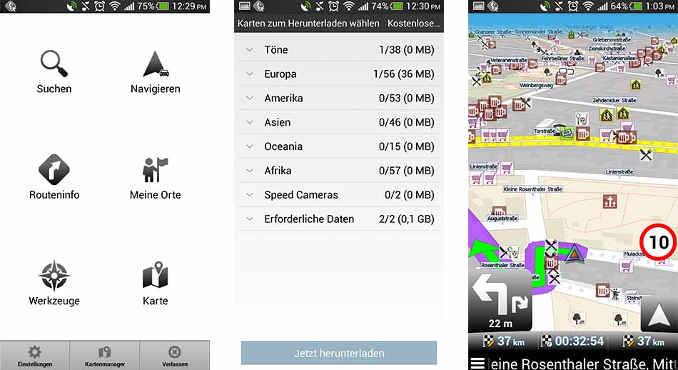 Mapfactor App Screenshot