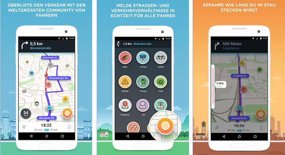 Platz 5: Waze - GPS, Karten & Verkehr