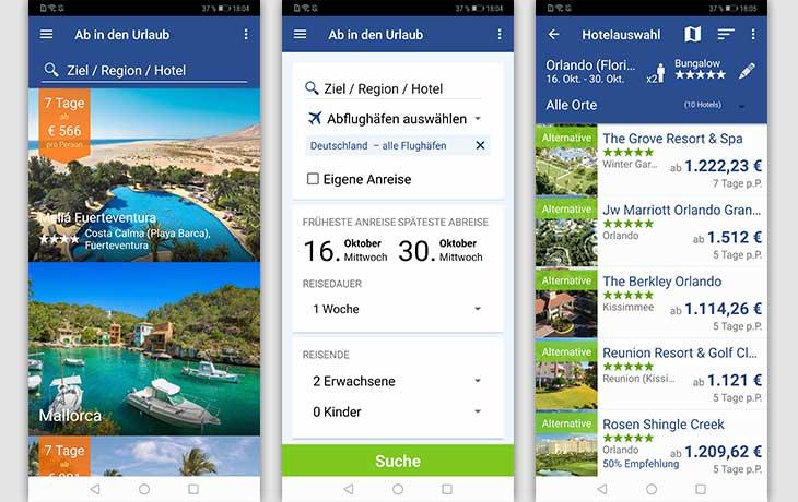 Ab in den Urlaub App Screenshots
