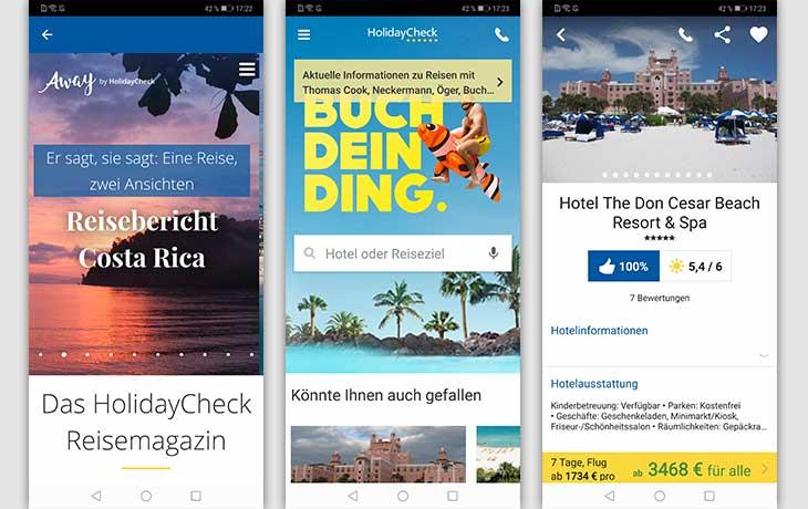 HolidayCheck-App Screenshots
