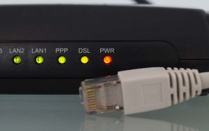DSL Router von hinten