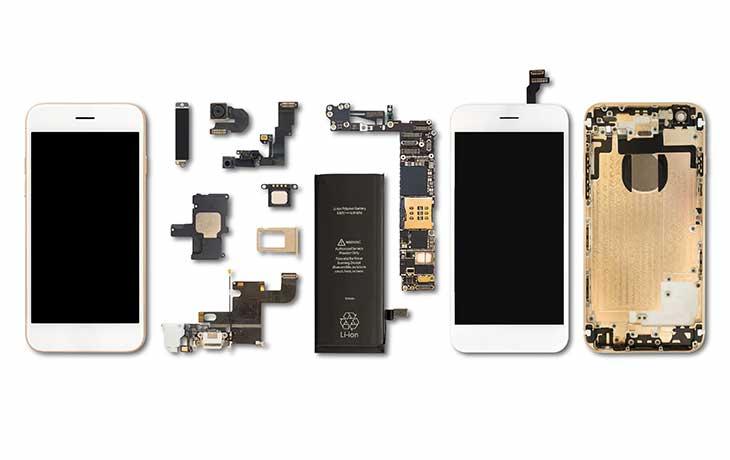 Smartphone Einzelteile