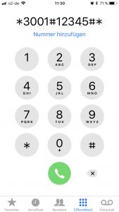 iPhone Tastenfeld Code
