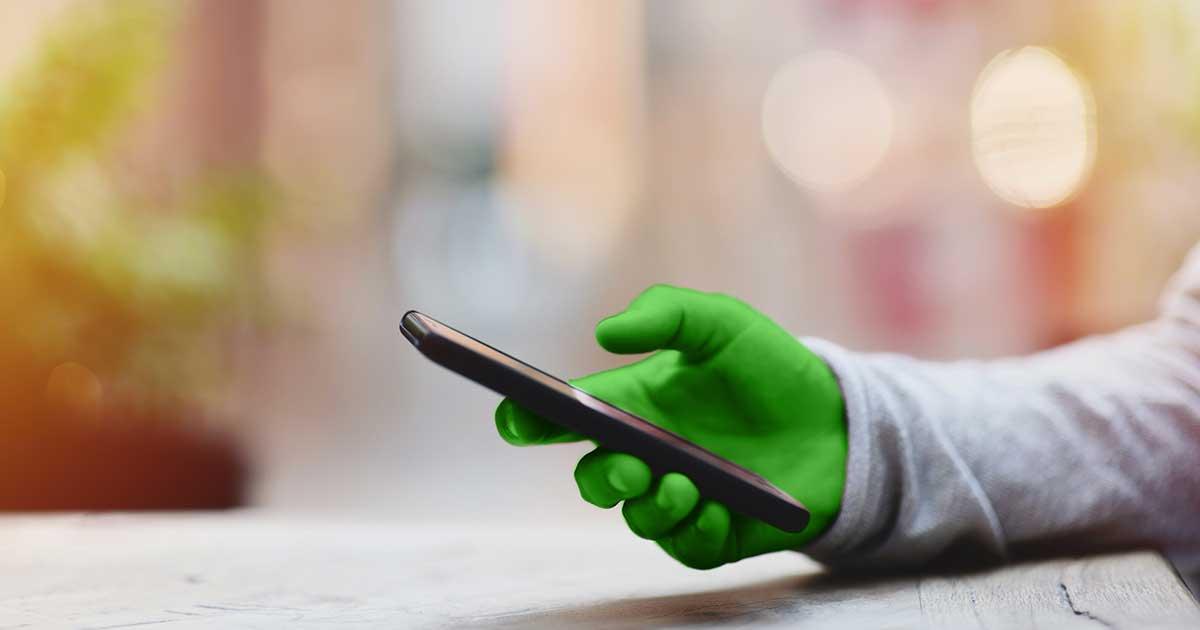 Handy mit einer Hand bedienen