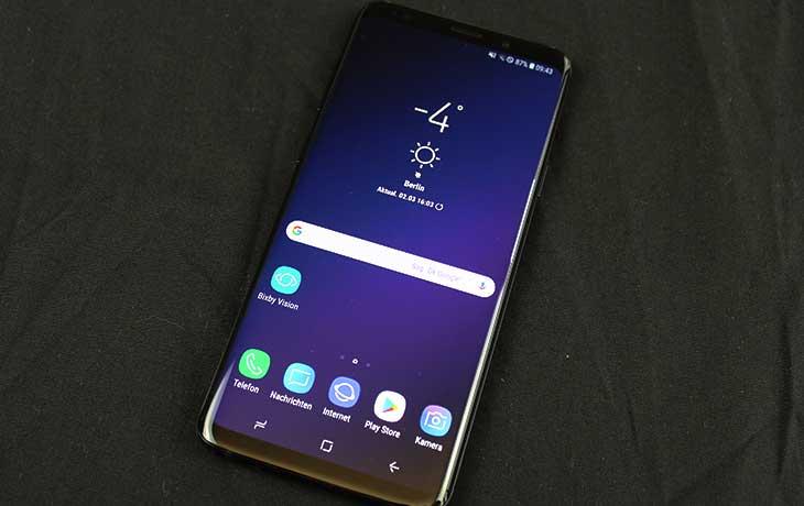 Das Galaxy S9 Plus von Vorne