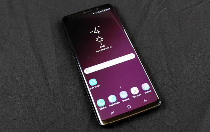 Das Galaxy S9 frontal