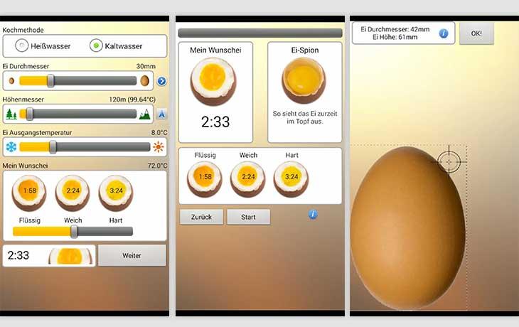 App für perfekte Eier
