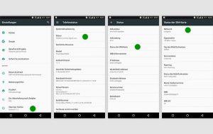 Screenshots Androidsmartphone Netzabfrage