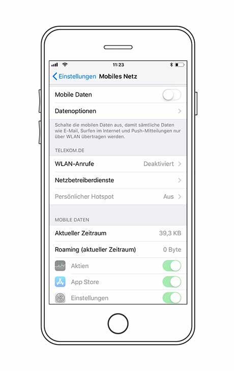 iPhone Datennutzung