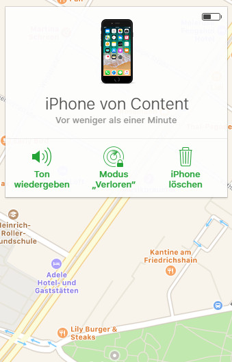 Screenshot Find my iPhone