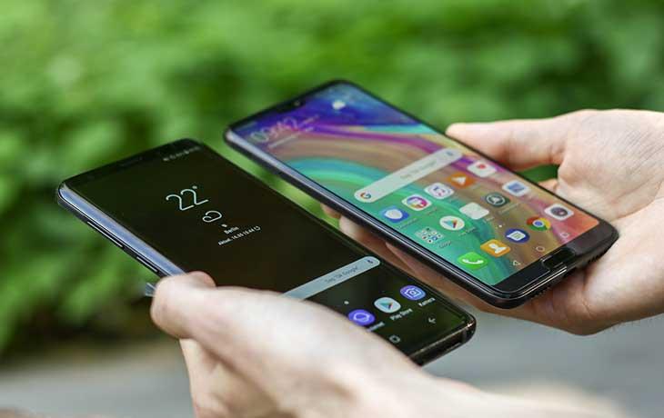 Das Huawei P20 Pro und das Samsung Galaxy S9+