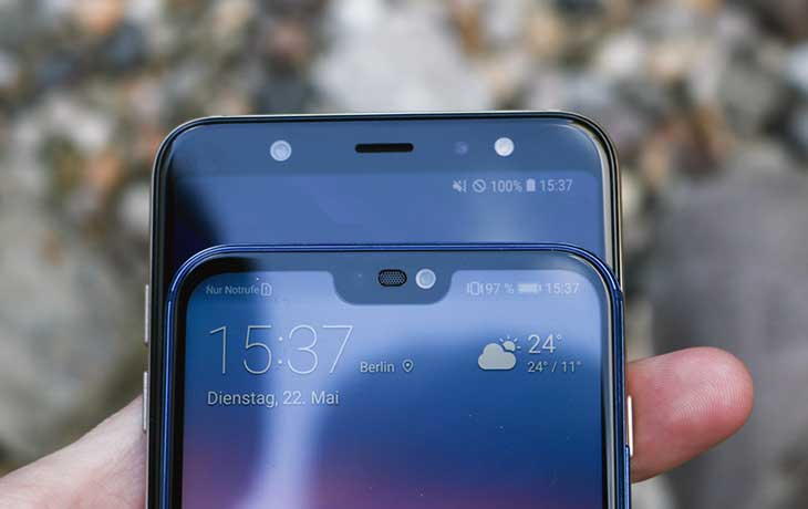 Das Huawei P20 Lite setzt auf die Notch
