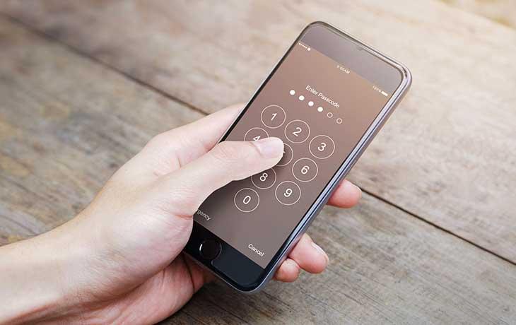 iPhone Passworteingabe