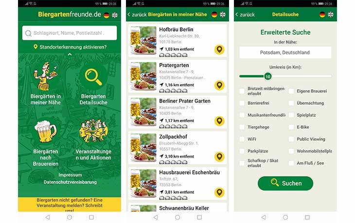 Biergarten Freunde App Screenshot