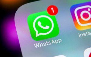WhatsApp-Icon auf Smartphonedisplay