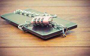Smartphone gesichert