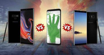 Samsung-Vergleich: Galaxy S9+ vs. Note9 vs. Note8