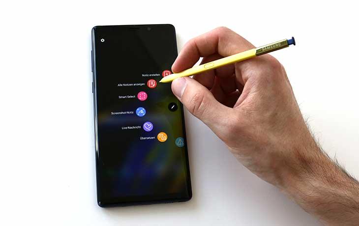 Note9 mit S-Pen
