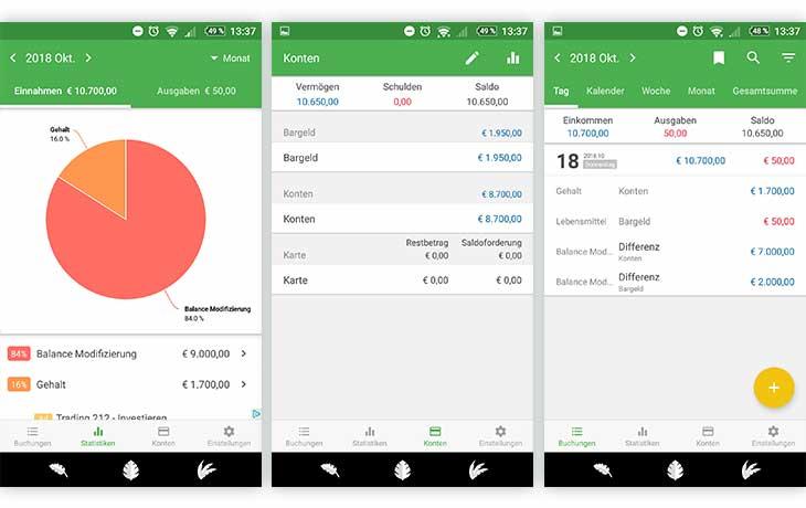 Haushaltsbuch: Money Manger Screenshots