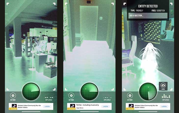 Ghost Detector App Screenahots