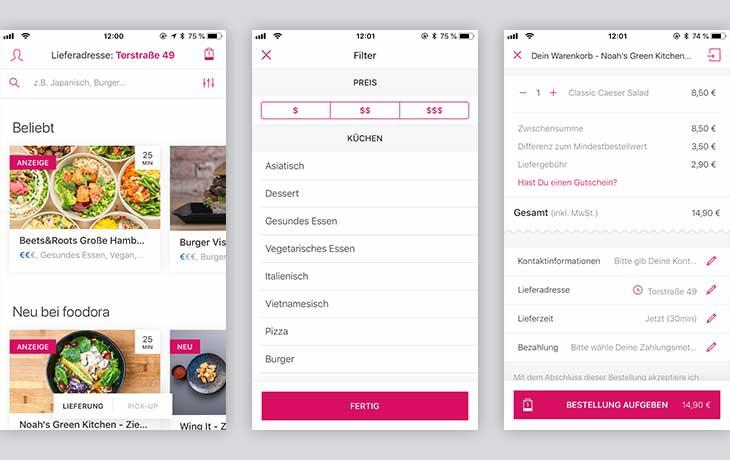 Foodora Screenshots