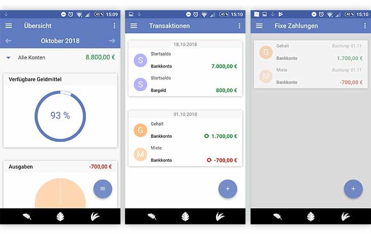SayMoney - Haushaltsbuch Screenshots