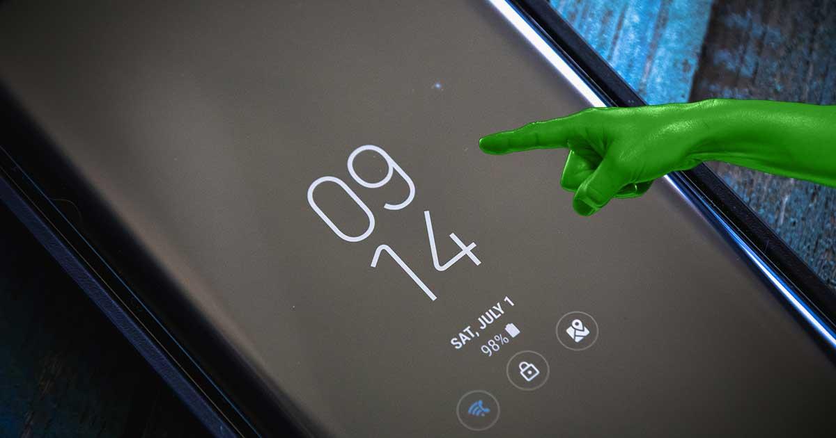 Always On Display auf einem Samsung Handy