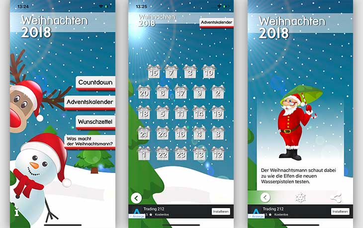 Adventskalender-App Weihnachts 2018-Die ultimative Weihnachts-App