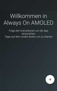 Screenshot App Always On AMOLED