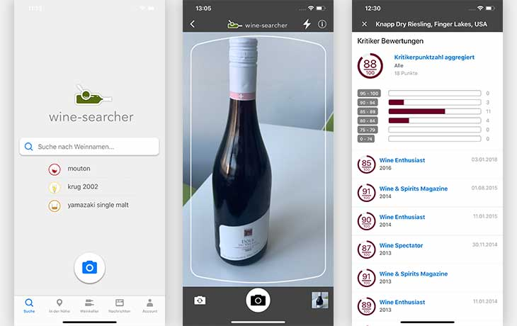 Wein App: Wine-Searcher