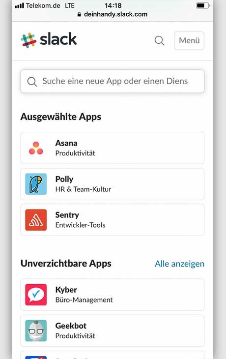 Slack: 5 Tipps Apps