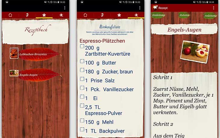 Plätzchen Rezepte / Weihnachtsbäckerei Screenshots