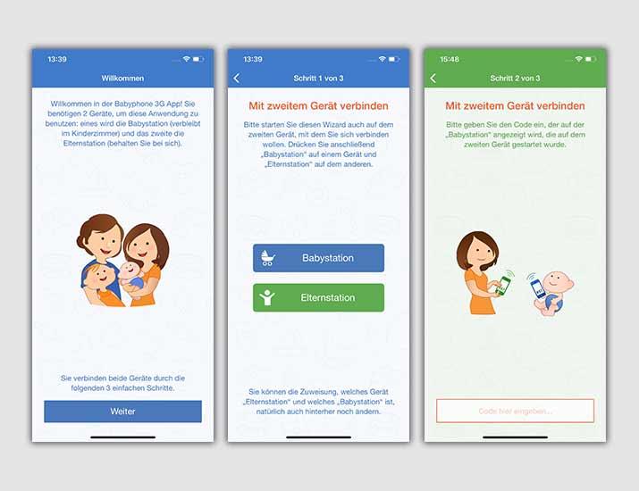 Screnshots 3G Babyphone App