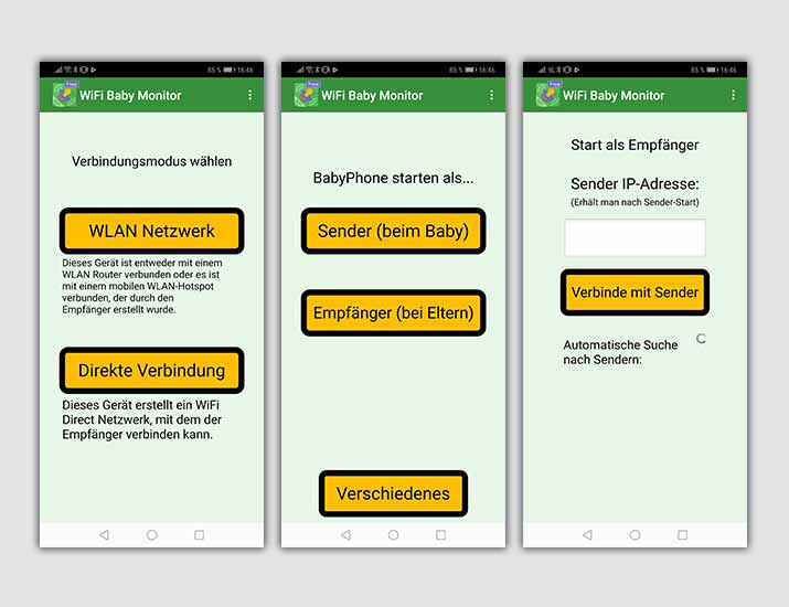 WiFi Baby Monitor Screenshots Babyphone-Apps