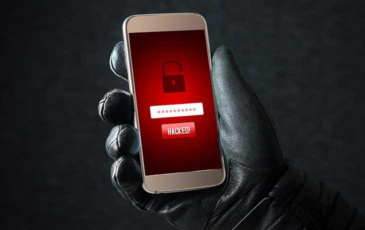 Handy gehackt