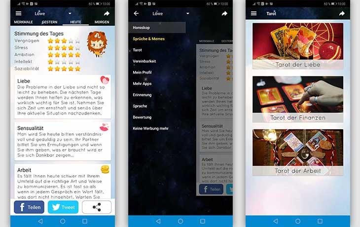 Horoskop-Apps: Astroberater Screenshots