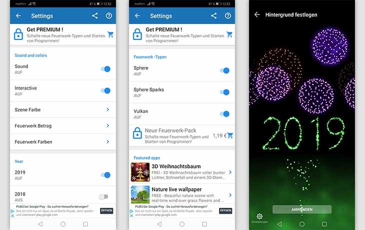Feuerwerk-Apps: Die 3 besten kostenlosen Silvesterkracher - Feuerwerk des neuen Jahres 2019