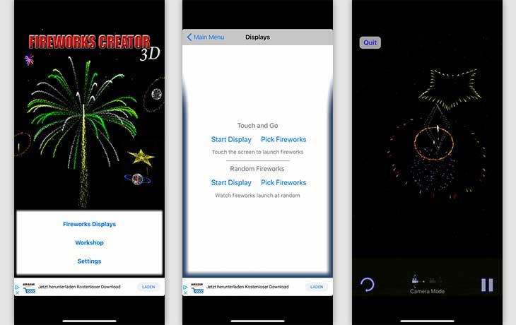 Feuerwerk-Apps: Die 3 besten kostenlosen Silvesterkracher - Fireworks Creator 3D