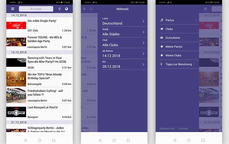 Party App Screenshots