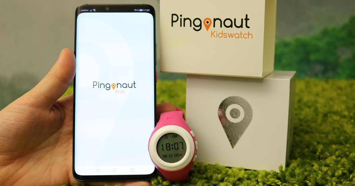 Handy mit Pingonaut App und Uhr und den Boxen