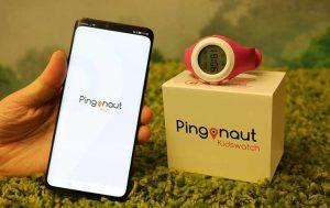 Pingonaut Uhr und Handy mit App
