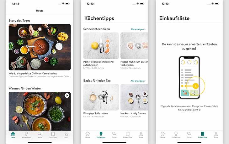 Rezepte-App: Screenshots Kitchen Stories