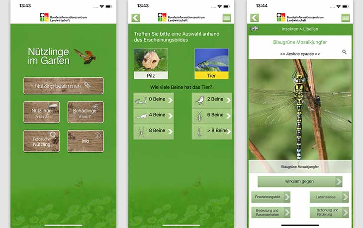 Nützlinge im Garten App Screenshot