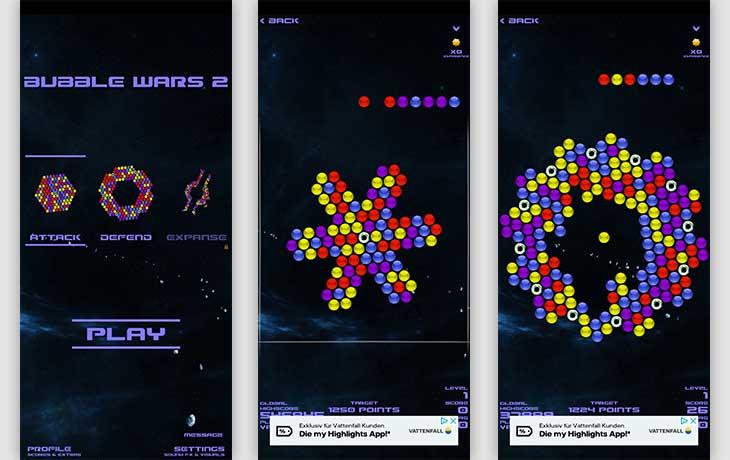 Bubble Wars 2 App Sreenshot