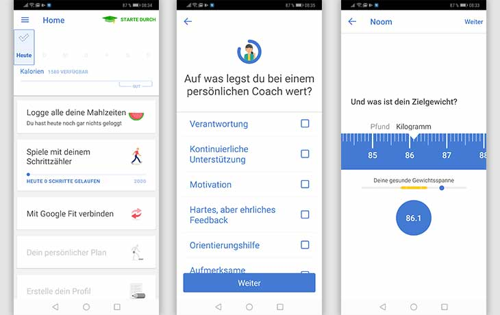 Abnehm-Apps: Screenshots Noom