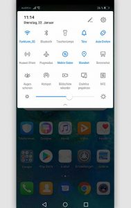 Screenshot Huawei erstellen: Screenshot Huawei Handy